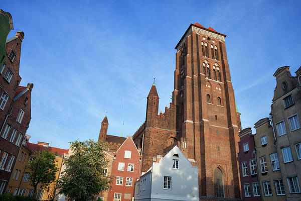 Tenement Photograph - St. Mary Church In Gdansk by Artur Bogacki