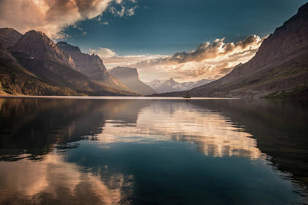 Wall Art - Photograph - St Mary Lake Sunset by William Freebilly photography