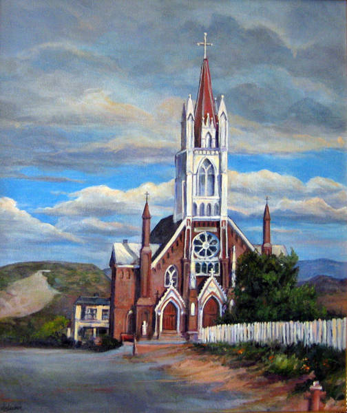 Painting - St. Mary Of The Mountains by Donna Tucker