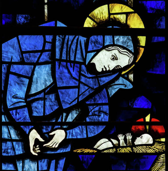Photograph - St Mary Redcliffe Stained Glass Close Up A by Jacek Wojnarowski