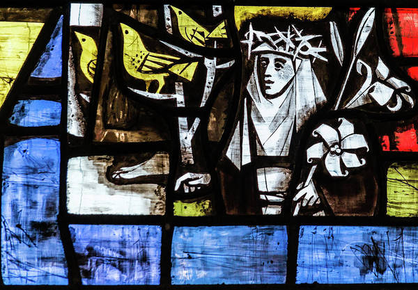 Photograph - St Mary Redcliffe Stained Glass Close Up B by Jacek Wojnarowski