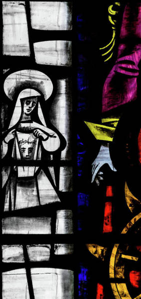Photograph - St Mary Redcliffe Stained Glass Close Up C by Jacek Wojnarowski