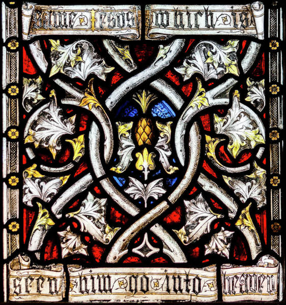 Photograph - St Mary Redcliffe Stained Glass Close Up F by Jacek Wojnarowski