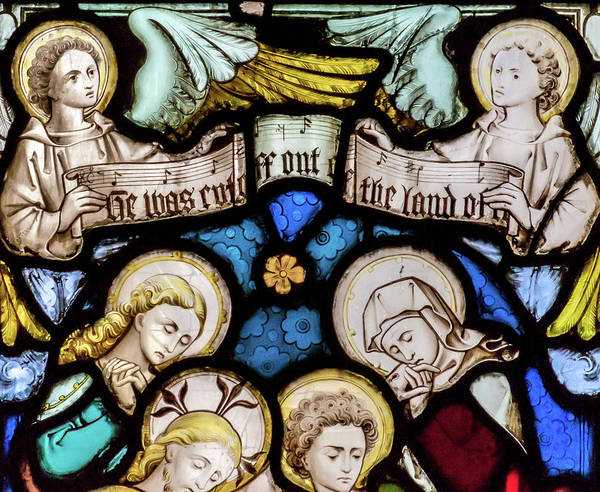 Photograph - St Mary Redcliffe Stained Glass Close Up G by Jacek Wojnarowski