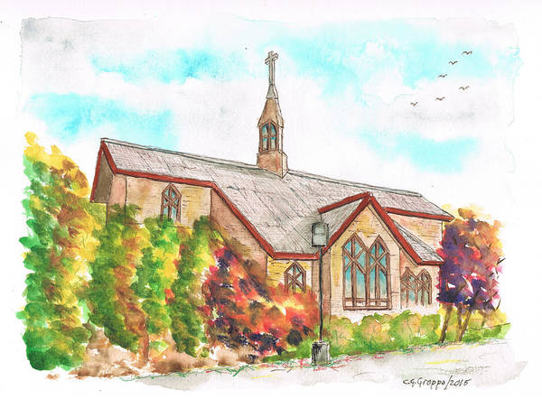 Brighton Painting - St. Mary's Catholic Church, Brighton, Utah by Carlos G Groppa