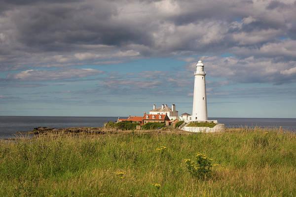 Photograph - St Mary's Lighthouse Headland by Gary Eason