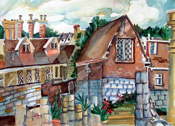 Wall Art - Painting - St Marys Of York England by Mindy Newman