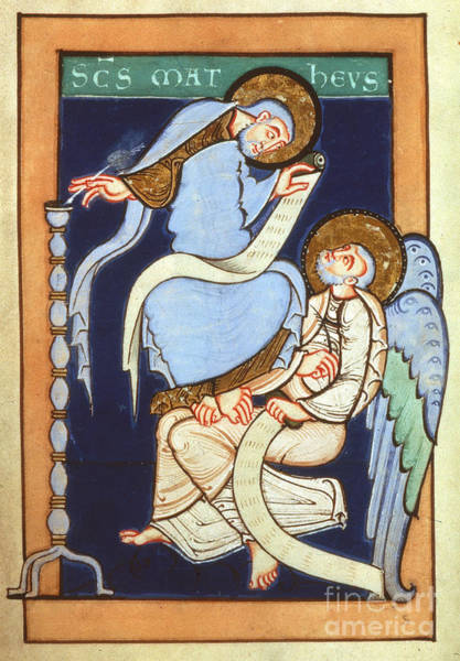 Painting - St. Matthew, C1130 by Granger