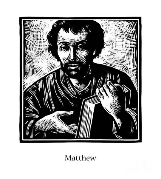 Painting - St. Matthew - Jlmtw by Julie Lonneman