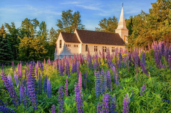 Photograph - St Matthews Church - Sugar Hill New Hampshire  by T-S Fine Art Landscape Photography