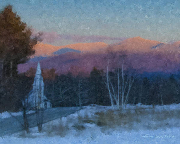 Painting - St. Matthews On Sugar Hill Road by Bill McEntee