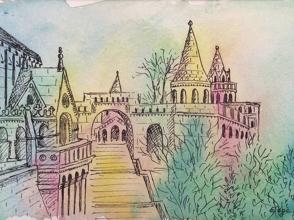 Painting - St. Matthias Cathedral, Budapest by Emily Page
