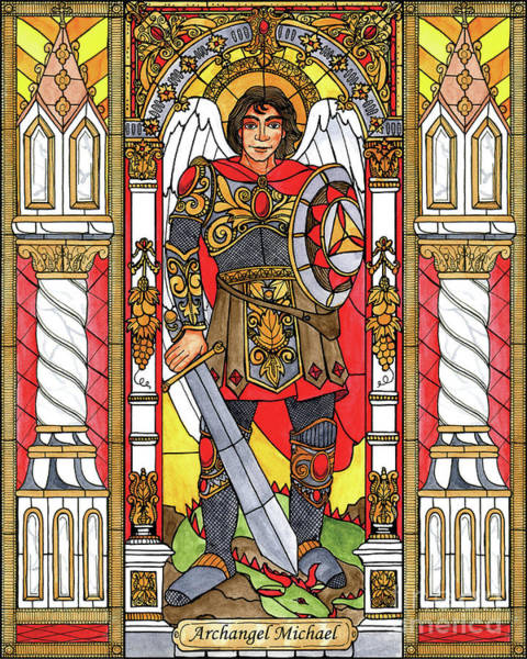 Painting - St. Michael Archangel by Brenda Nippert