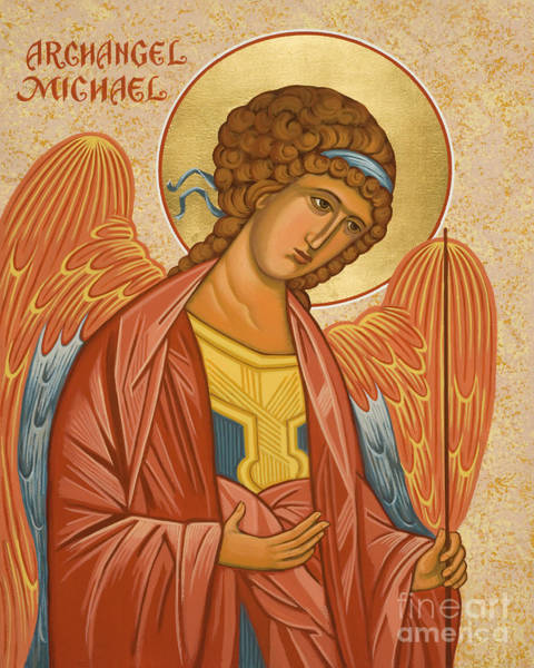 Painting - St. Michael Archangel - Jcami by Joan Cole