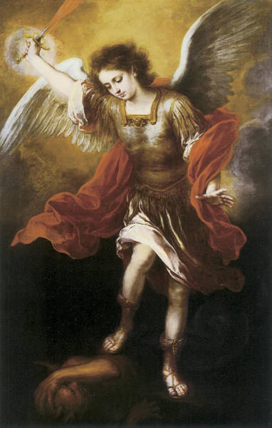 Painting - St. Michael by Bartolome Esteban Murillo