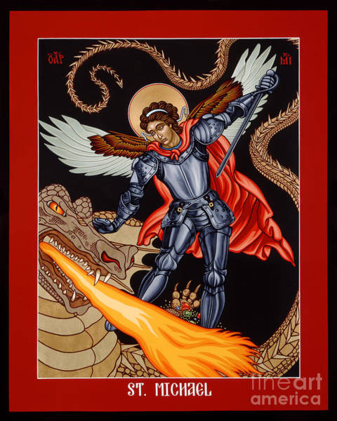 Painting - St. Michael Archangel - Lwmca by Lewis Williams OFS