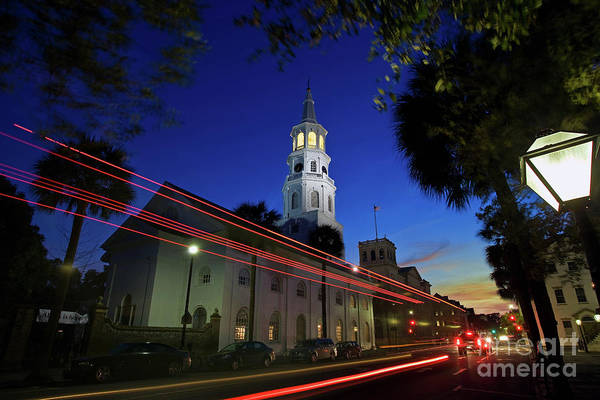 Photograph - St. Michael's Episcopal Church In Charleston, South Carolina by Sam Antonio Photography