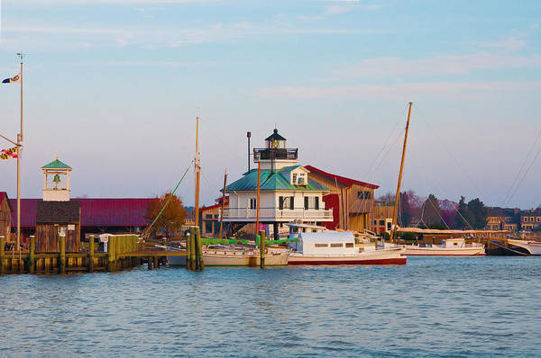 Photograph - St Michaels Lighthouse - Chesapeake Bay by Bill Cannon