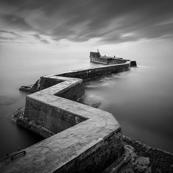 Minimalist Photograph - St Monans Breakwater by Dave Bowman