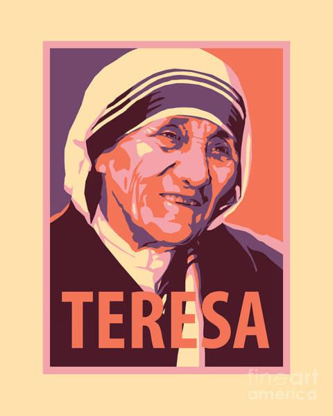 Painting - St. Teresa Of Calcutta - Jltec by Julie Lonneman