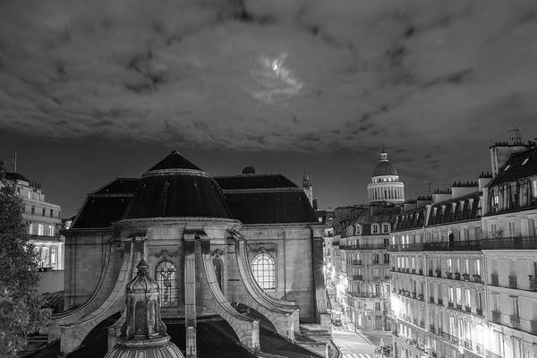 St Nicholas Du Chardonnet, Paris, At Night Art Print