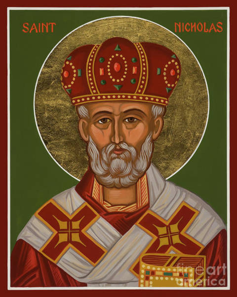 Painting - St. Nicholas - Jcncs by Joan Cole