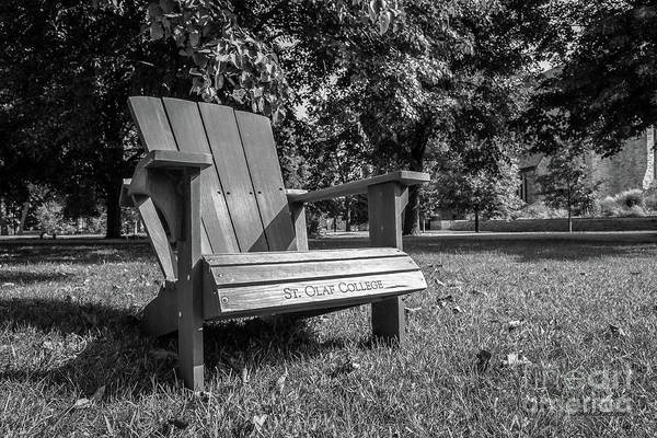 Photograph - St. Olaf College Adirondack Chair by University Icons