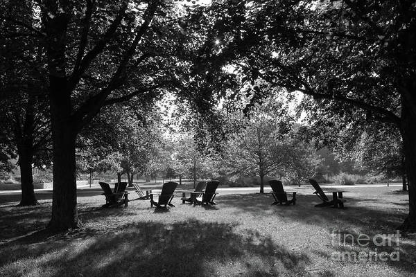 Adirondack Chair Wall Art - Photograph - St. Olaf College Adirondacks On The Quad by University Icons