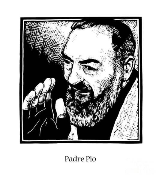 Padre Pio Wall Art - Painting - St. Padre Pio - Jlppo by Julie Lonneman