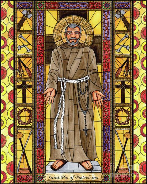 Painting - St. Padre Pio - Bnppp by Brenda Nippert