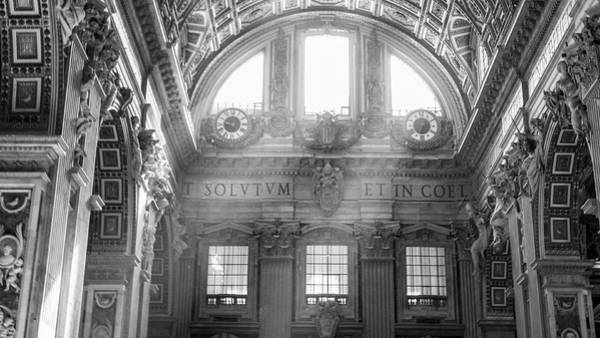 Photograph - St Peter's Basilica Beams Of Light  by John McGraw