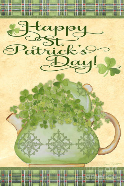 Lucky Clover Painting - St. Patrick-jp3192-a by Jean Plout