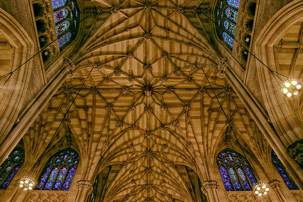 Photograph - St. Patrick's Ceiling by Jessica Jenney