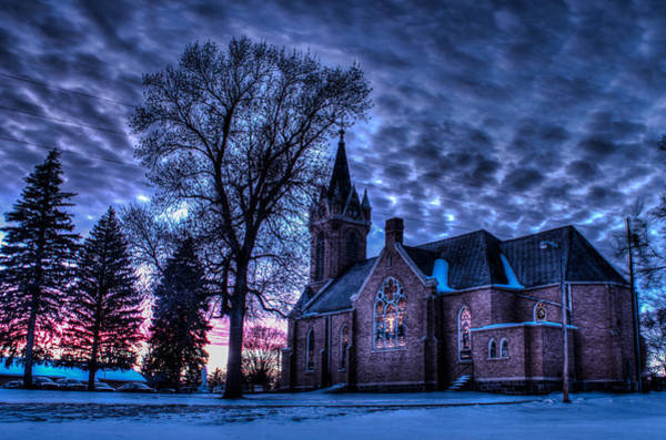 Steeple Wall Art - Photograph - St. Patricks by AllScapes Photography