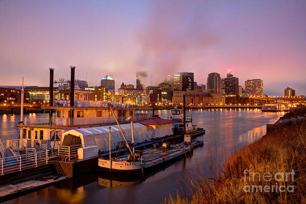 Mississippi River Photograph - St Paul Minnesota Its A River Town by Wayne Moran
