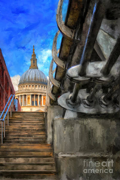 Photograph - St. Paul's Cathedral And The Millennium Bridge by Lois Bryan
