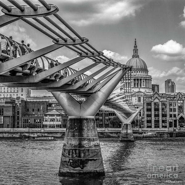 Photograph - St Paul's Cathedral And The Millennium Bridge. by Nigel Dudson