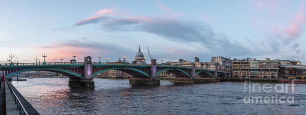 Photograph - St. Paul's Cathedral Behind The Southwark Bridge During Sunset by PorqueNo Studios