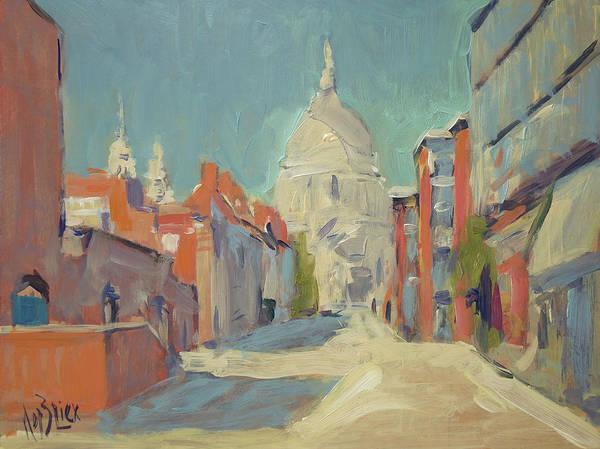 Painting - St Pauls London by Nop Briex