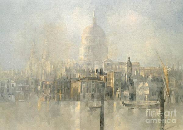 Cathedral Painting - St Paul's by Peter Miller
