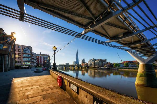Photograph - St Pauls Walk On A Sunny Day - London, England by Nico Trinkhaus