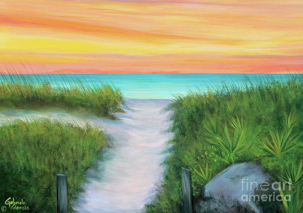 Wall Art - Painting - St Pete Beach Path by Gabriela Valencia