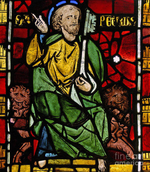 Wall Art - Glass Art - St Peter by French School