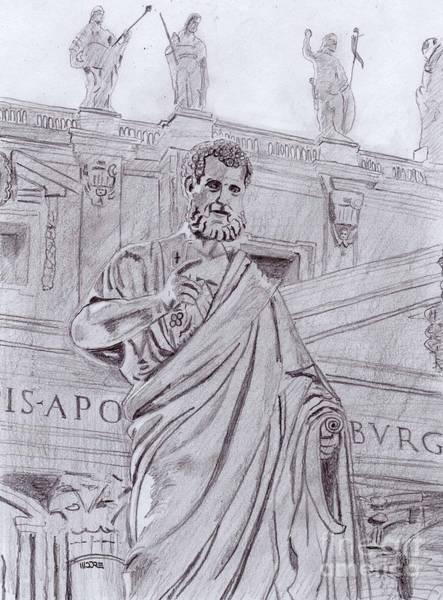 Drawing - St. Peter by Pat Moore