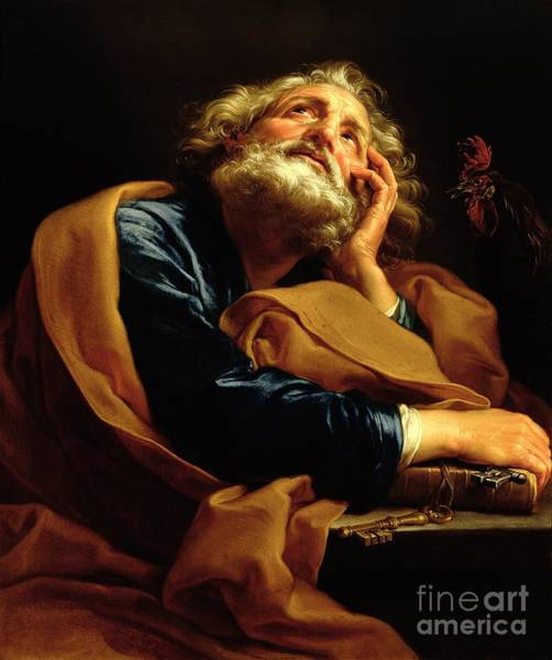 Wall Art - Painting - St Peter by Pompeo Girolamo Batoni