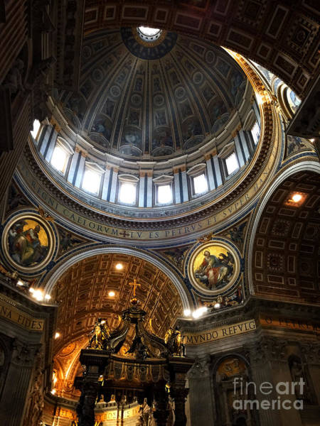 St Peters Basilica Photograph - St Peter's Basilia by HD Connelly