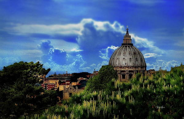 Wall Art - Photograph - St Peter's Basilica's Dome - Rome by Russ Harris