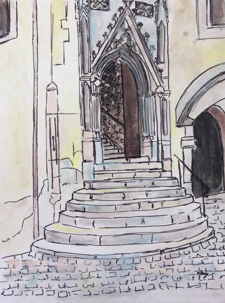 Painting - St. Peter's Cathedral, Regensburg by Emily Page