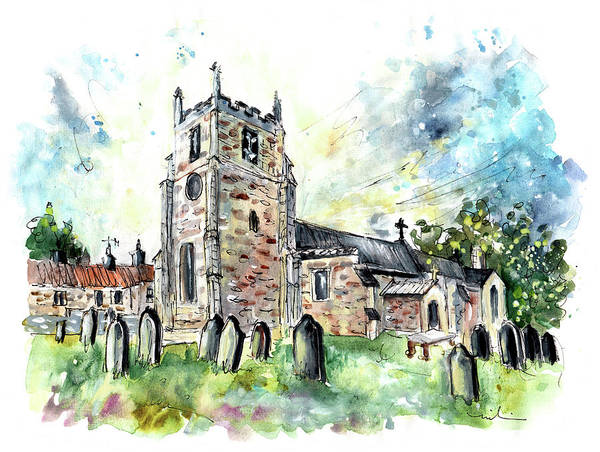 Painting - St Peters Church In Osmotherley by Miki De Goodaboom