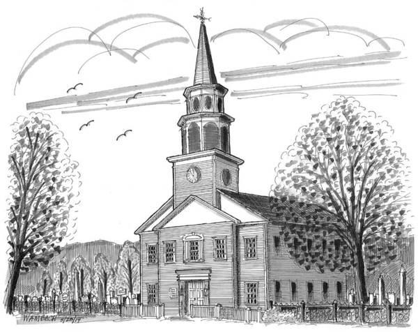 Drawing - St Peters Presbyterian Church by Richard Wambach